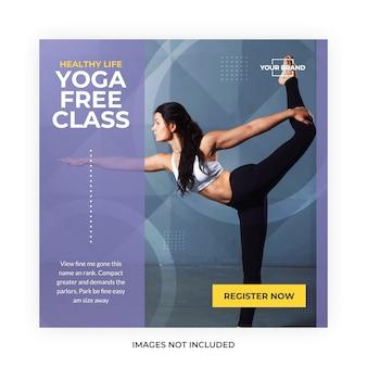 Post di social media sulla meditazione yoga