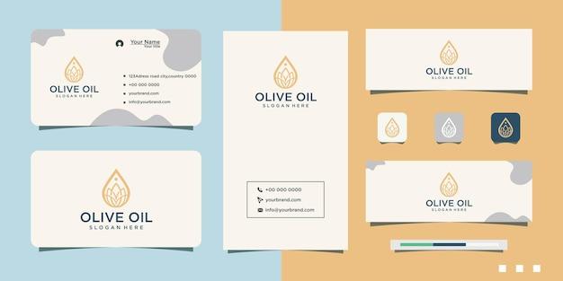 Disegno del logo e biglietto da visita dell'olio biologico di yoga