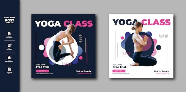 Insegna quadrata di instagram della posta sociale di media di yoga