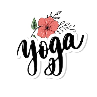 Studio di yoga. scritte a mano eleganti