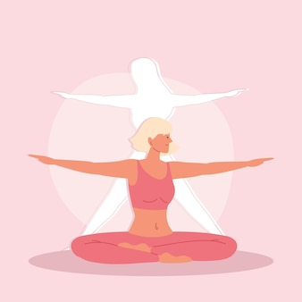 Donna di yoga che fa esercizio