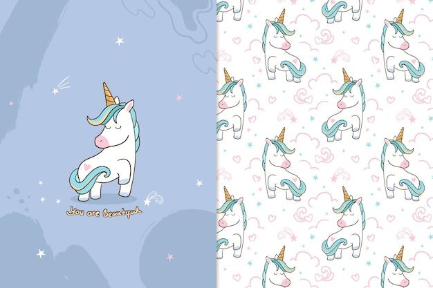 Sei un bellissimo modello di unicorno