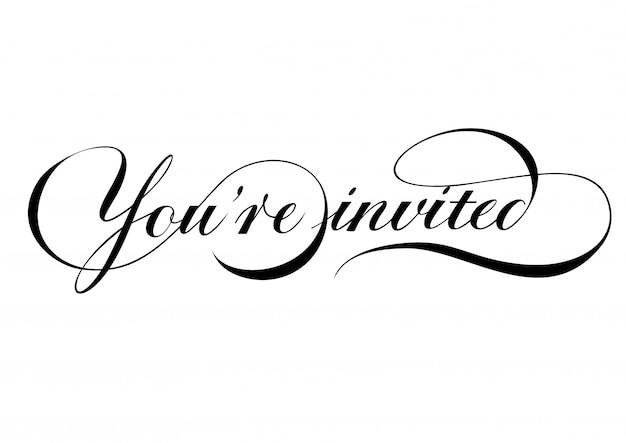 Sei invitato a scrivere lettere con turbinii.
