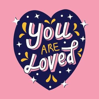 Sei amato lettering
