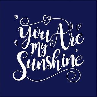Sei il mio lettering solare