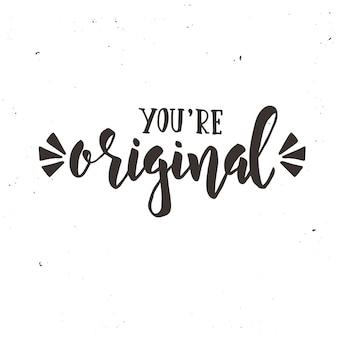 Sei un design calligrafico originale