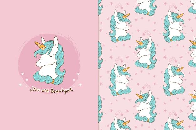 Sei un modello di unicorno adorabile speciale