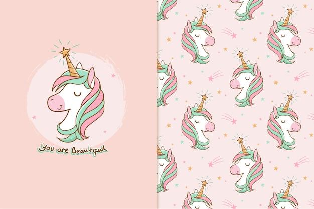 Sei un modello unicorno carino speciale