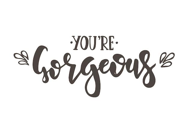 Sei un bellissimo design calligrafico