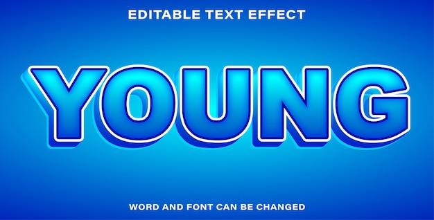Giovane effetto bellissimo testo
