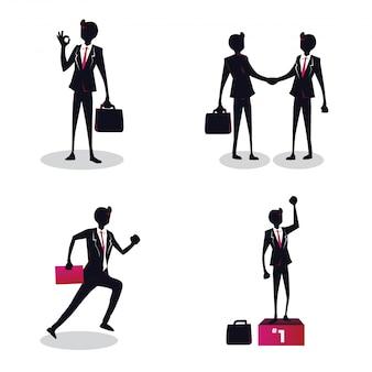Giovane illustrazione creativa di concetto dell'uomo d'affari