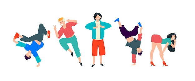 Giovani che ballano i giovani si divertono e si divertono al massimo