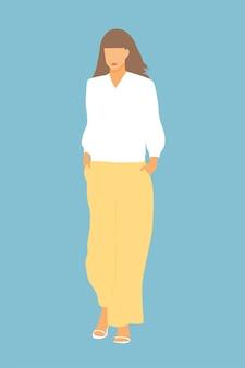 Giovane ragazza alla moda