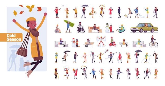 Set di personaggi di grandi dimensioni per giovani ragazzi