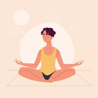 Giovane che medita