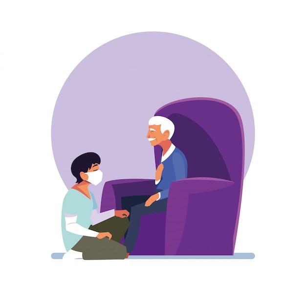 Il giovane si prende cura del vecchio
