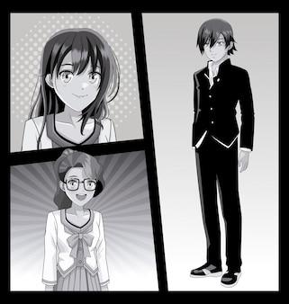 Il giovane manga affronta i cartoni