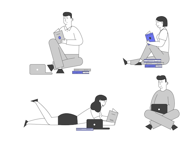 I giovani studio insieme isolato su sfondo bianco