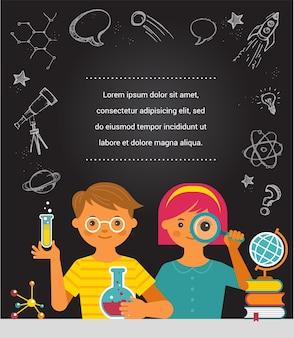 Giovane scienziato. ricerca, tecnologia biologica.