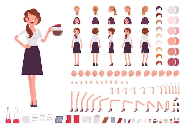 Set per la creazione del personaggio del giovane segretario