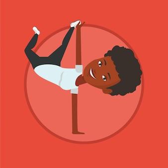 Illustrazione di vettore di breakdance della giovane donna.