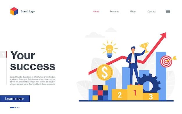 La tua pagina di destinazione aziendale di successo