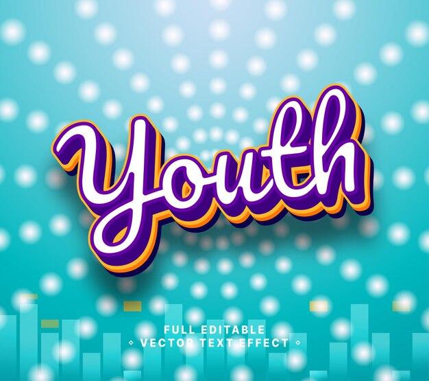 Stile di scrittura giovanile, effetto di testo modificabile