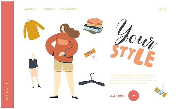 Modello di pagina di destinazione della moda urbana della gioventù