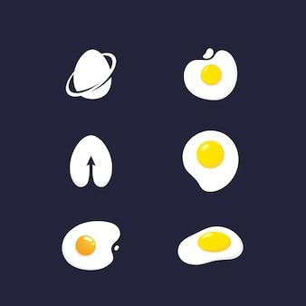 Yummy egg vector icon design illustrazione template