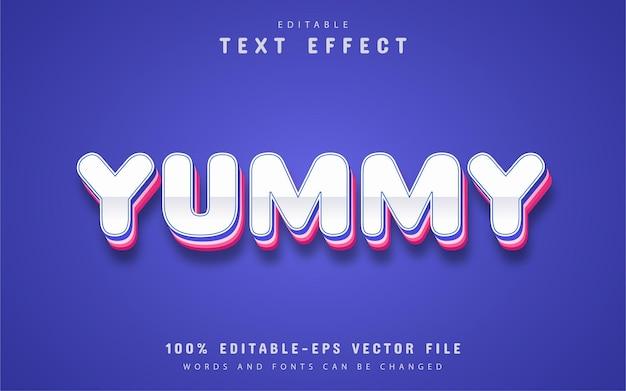 Testo gustoso, effetto di testo modificabile