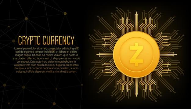 Z cambio di contanti concetto di finanza di valuta crypto sfondo di tecnologia sfondo astratto