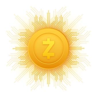 Z cambio di contanti concetto di finanza di valuta crypto sfondo della tecnologia