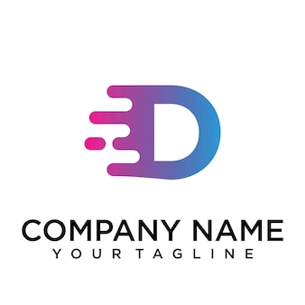 Logo della lettera z veloce