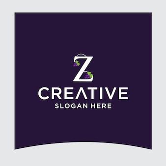 Design del logo dell'uva z