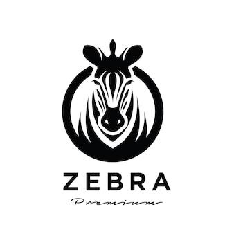Design premium del logo della testa di zebra