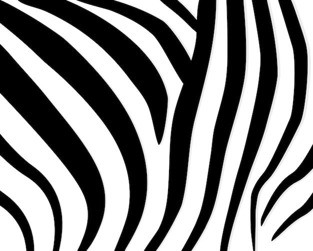Modello zebrato. motivo geometrico astratto. sfondo di pelle animale in bianco e nero. carta da parati alla moda alla moda. Vettore Premium