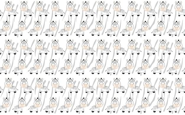 Fondo del modello zebra Vettore Premium