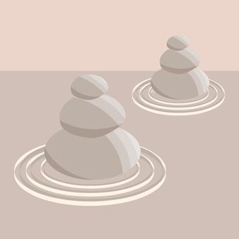 Pietre per la meditazione del giardino zen