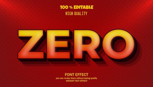 Effetto testo zero, carattere modificabile