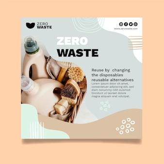 Modello quadrato volantino rifiuti zero