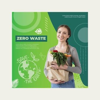 Modello di volantino per rifiuti zero