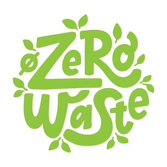 Zero sprechi. lettering