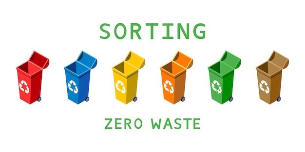 Zero rifiuti illustrazione di smistamento