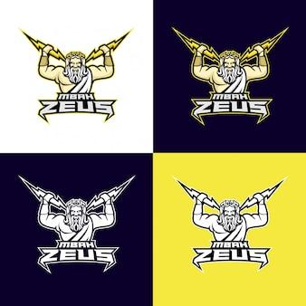 Zeus god logo sportivo