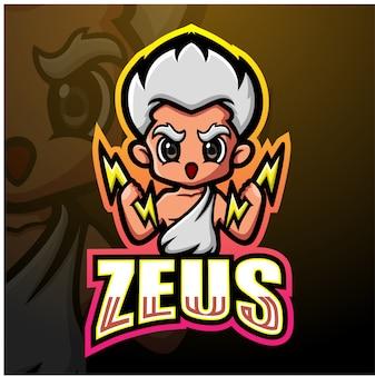 Zeus mascot esport illustrazione