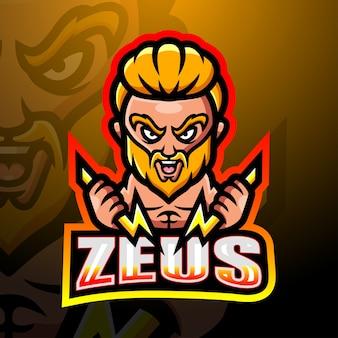 Illustrazione di esport mascotte di zeus