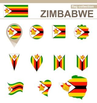 Collezione di bandiere dello zimbabwe, 12 versioni