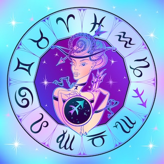 Segno zodiacale sagittario una bella ragazza
