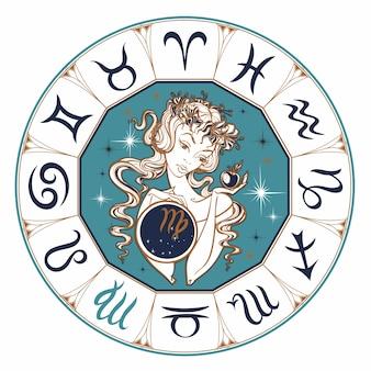 Segno zodiacale vergine una bella ragazza.
