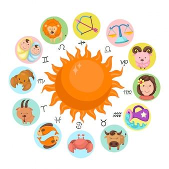 Vettore dello zodiaco